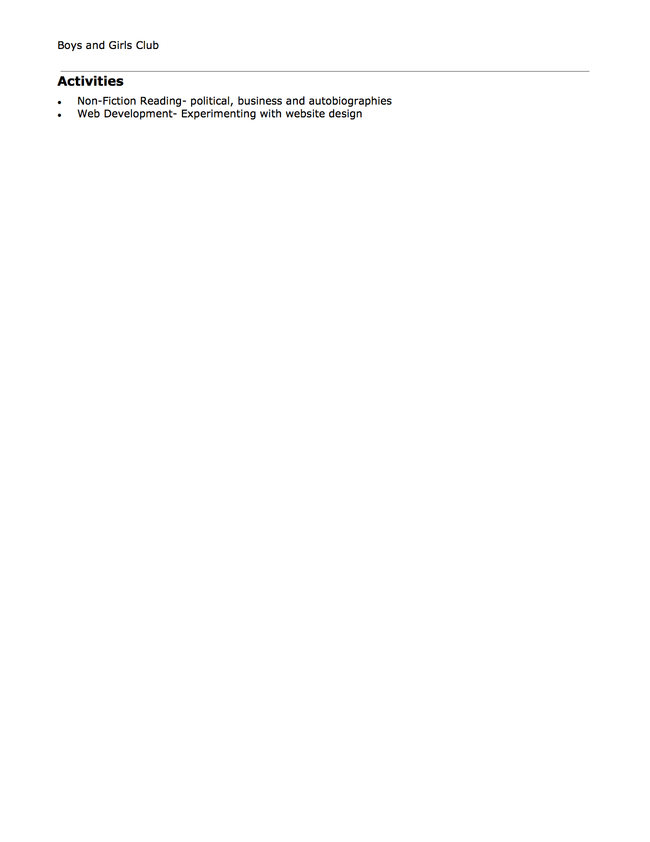 Sales resume 2 page 2