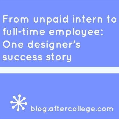 design intern to full-time
