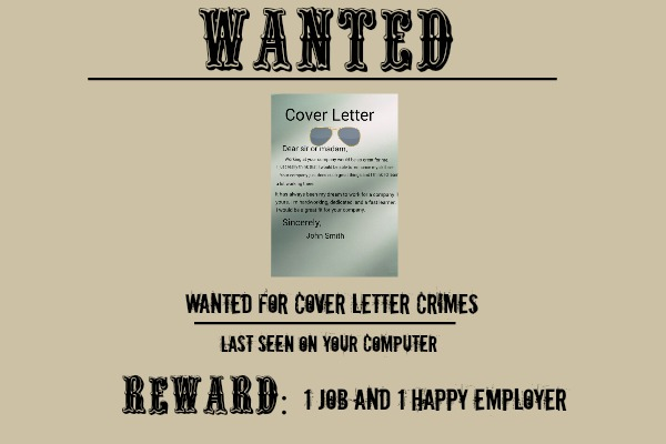 Cover Letter WANTED Poster