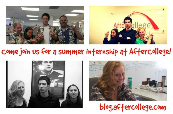 summer internship collage