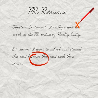 PR Résumé  Cover Letter For Resumes