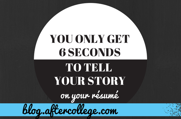 tell your story on your resume