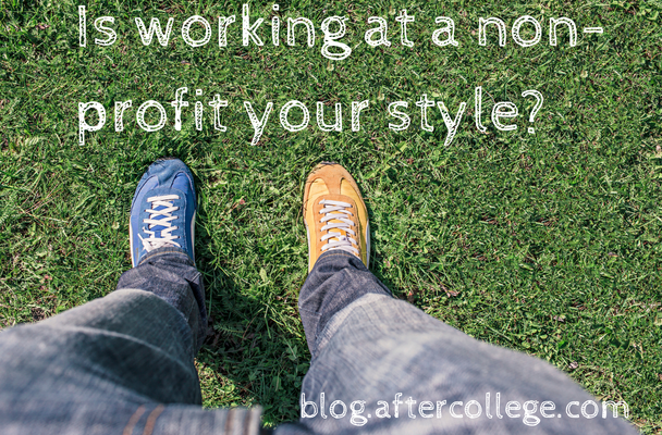 Is working at a non-profit your style-