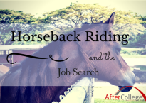 What horseback riding taught me about the job search.