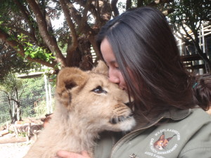 Big kisses for a big cat!